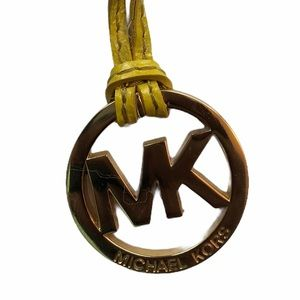 Michael kors key chain fob on yellow Leather strap